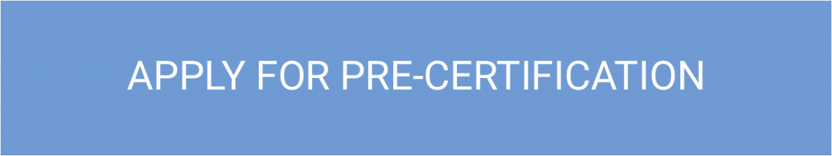 Apply for Pre-Certification